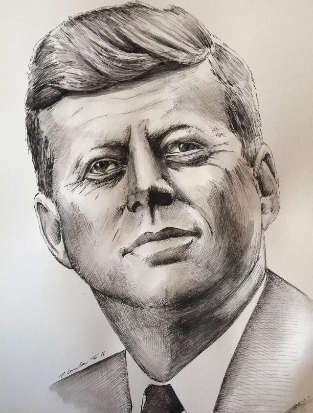 John F. Kennedy by TraceyLawler
